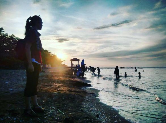 Sunset pantai ujung negoro