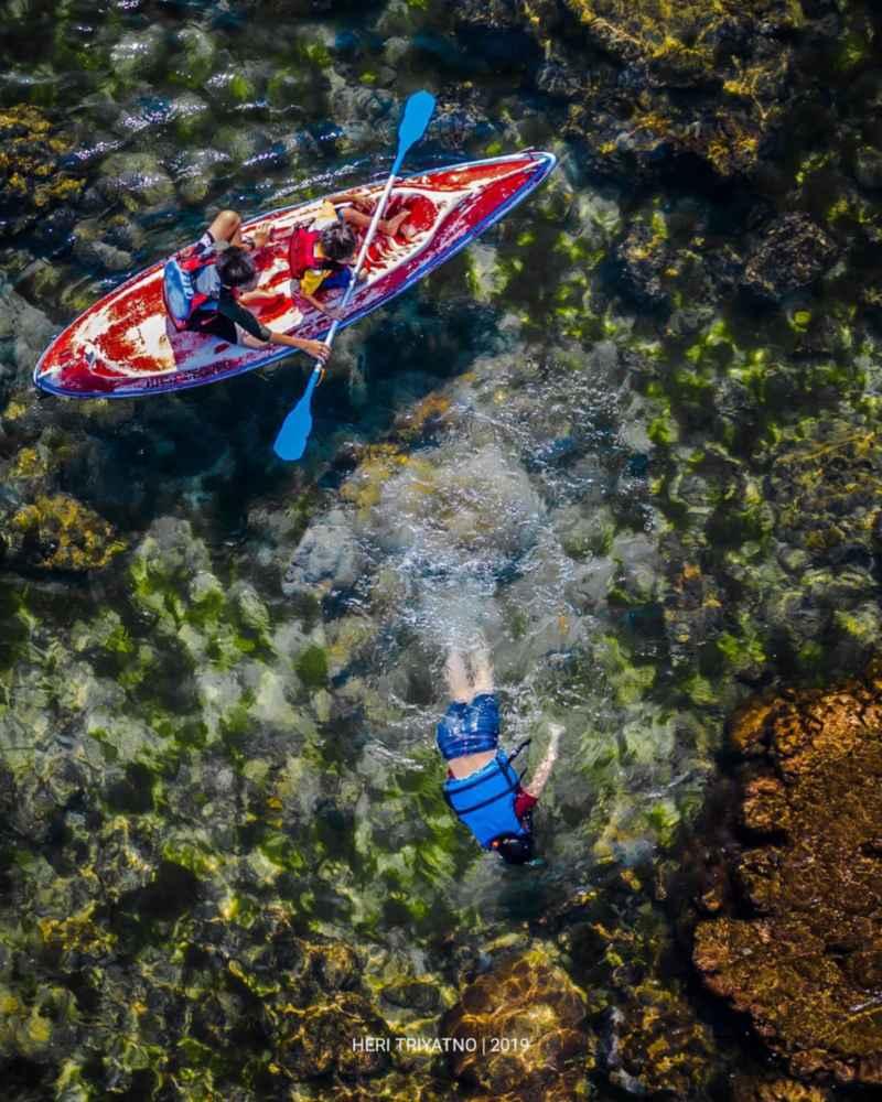 Bermain kano pantai ngandong