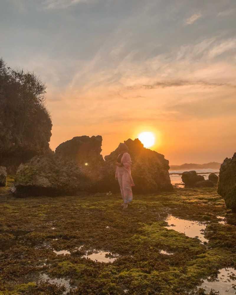 Sunset pantai ngandong