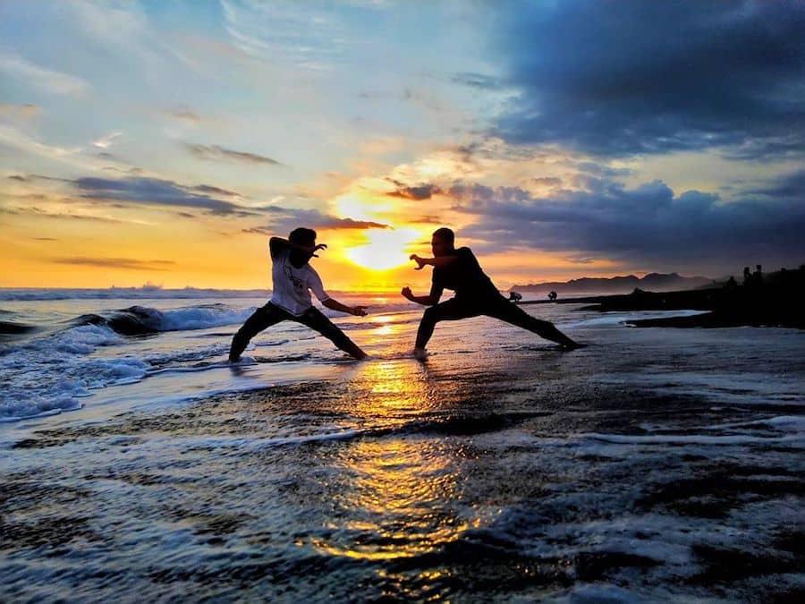 Sunset pantai bopong